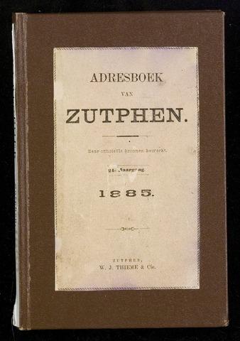 Adresboeken Zutphen 1885-12-31