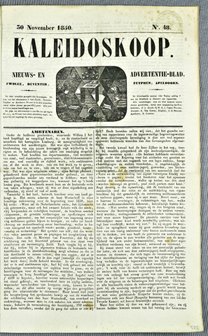 De Kaleidoskoop (1846-1851) 1850-11-30
