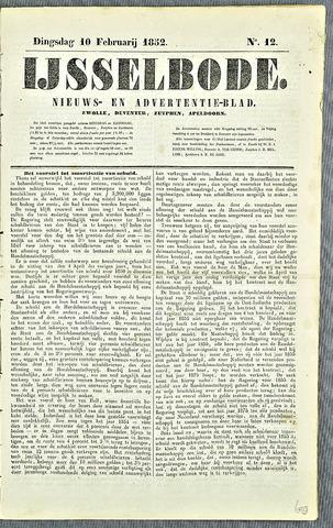De IJsselbode (1852) 1852-02-10