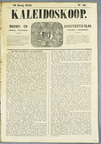 De Kaleidoskoop (1846-1851) 1849-06-30