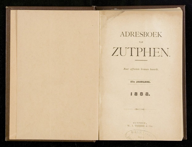 Adresboeken Zutphen (1863-1967) 1888-12-31