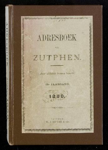 Adresboeken Zutphen 1890-12-31