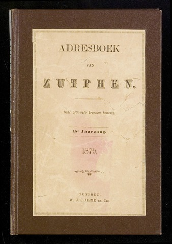 Adresboeken Zutphen 1879