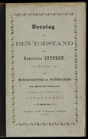 Jaarverslagen gemeente Zutphen (1851-1945) 1891-12-31