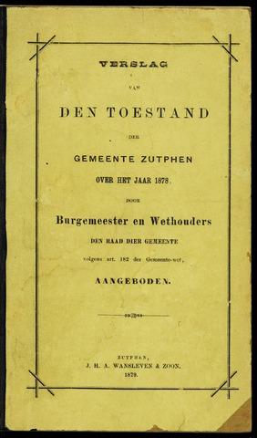 Jaarverslagen gemeente Zutphen 1878-12-31