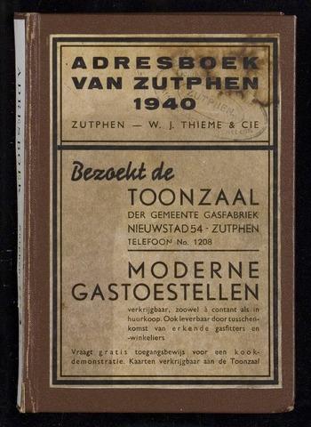 Adresboeken Zutphen 1940