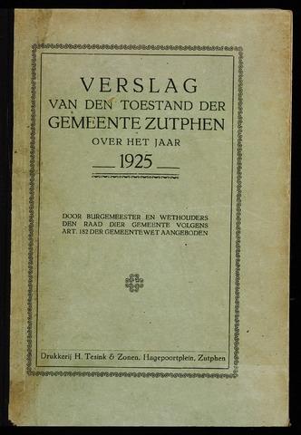Jaarverslagen gemeente Zutphen (1851-1945) 1925-12-31