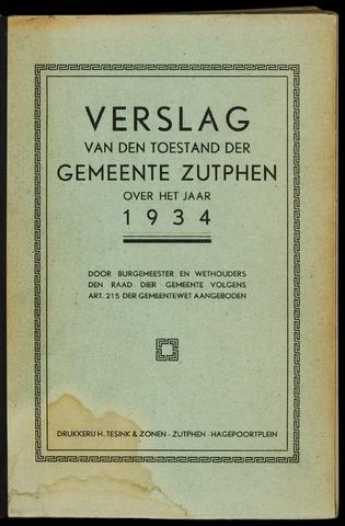 Jaarverslagen gemeente Zutphen (1851-1945) 1934-12-31