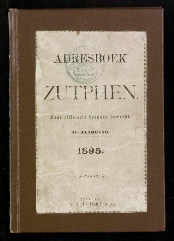 Adresboeken Zutphen (1863-1967) 1895-12-31