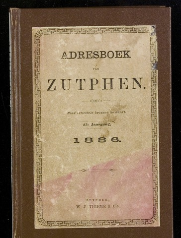 Adresboeken Zutphen 1886