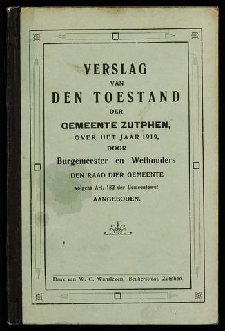 Jaarverslagen gemeente Zutphen 1919-12-31