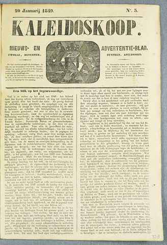 De Kaleidoskoop (1846-1851) 1849-01-20