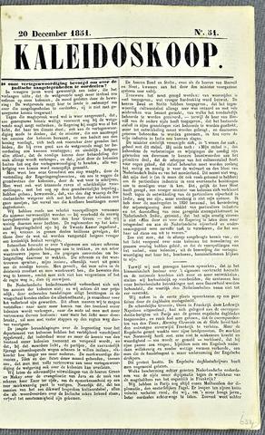De Kaleidoskoop 1851-12-20