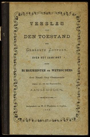 Jaarverslagen gemeente Zutphen 1887-12-31