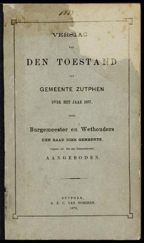 Jaarverslagen gemeente Zutphen (1851-1945) 1877-12-31