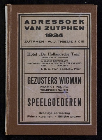 Adresboeken Zutphen 1934-12-31