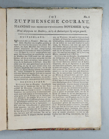 Zutphense Courant (1783-1784) 1784-11-29