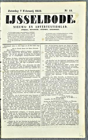 De IJsselbode (1852) 1852-02-07