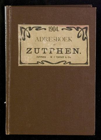 Adresboeken Zutphen (1863-1967) 1904-12-31