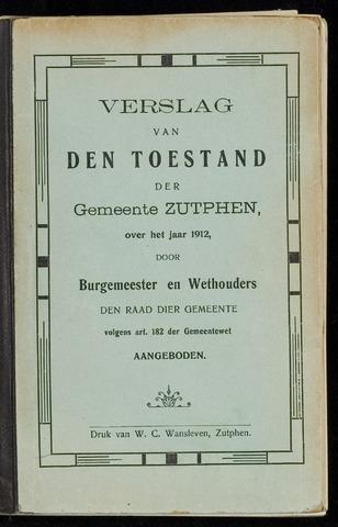 Jaarverslagen gemeente Zutphen (1851-1945) 1912-12-31