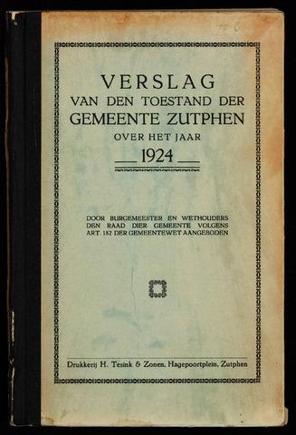Jaarverslagen gemeente Zutphen 1924-12-31