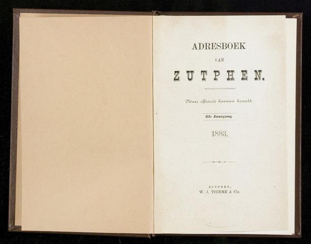 Adresboeken Zutphen (1863-1967) 1883-12-31