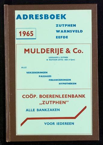 Adresboeken Zutphen 1965-12-31