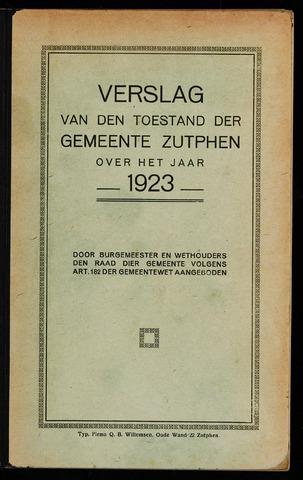 Jaarverslagen gemeente Zutphen 1923-12-31