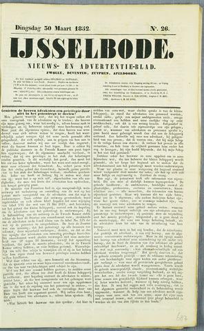 De IJsselbode (1852) 1852-03-30