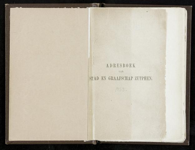 Adresboeken Zutphen 1863