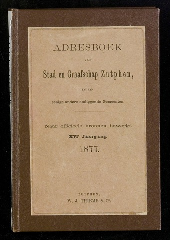 Adresboeken Zutphen (1863-1967) 1877-12-31