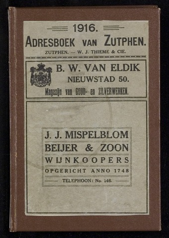 Adresboeken Zutphen (1863-1967) 1916-12-31
