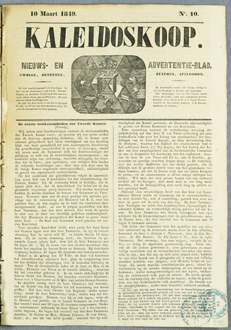 De Kaleidoskoop (1846-1851) 1849-03-10