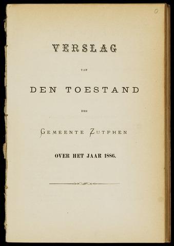 Jaarverslagen gemeente Zutphen 1886-12-31