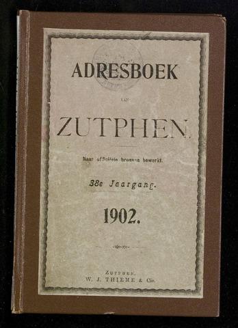 Adresboeken Zutphen 1902
