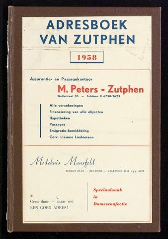 Adresboeken Zutphen (1863-1967) 1958-12-31