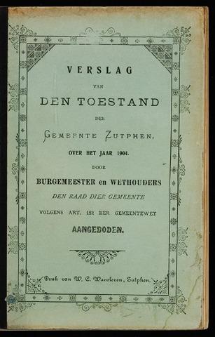 Jaarverslagen gemeente Zutphen 1904-12-31