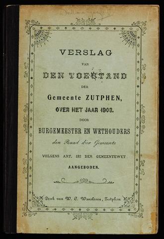Jaarverslagen gemeente Zutphen 1903-12-31