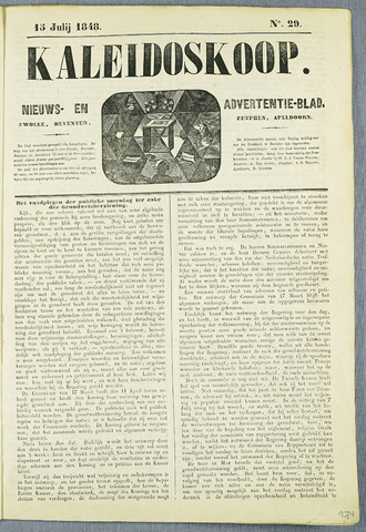 De Kaleidoskoop (1846-1851) 1848-07-15