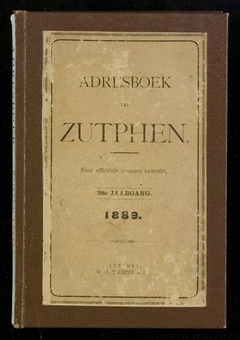 Adresboeken Zutphen 1889