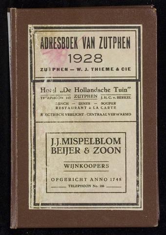 Adresboeken Zutphen 1928