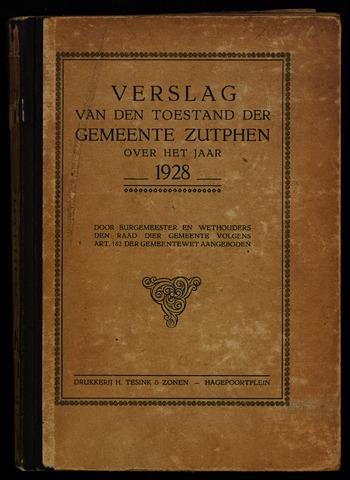 Jaarverslagen gemeente Zutphen 1928-12-31