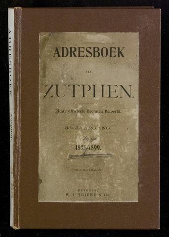Adresboeken Zutphen 1898