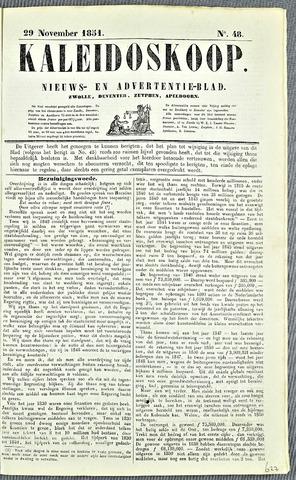 De Kaleidoskoop 1851-11-29