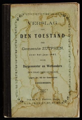 Jaarverslagen gemeente Zutphen (1851-1945) 1907-12-31