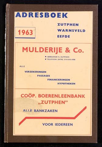 Adresboeken Zutphen 1963