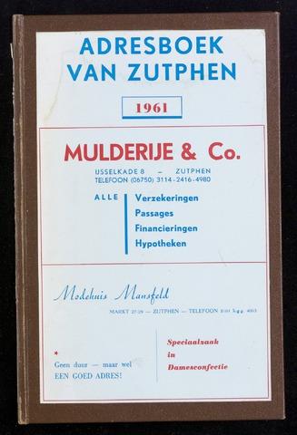 Adresboeken Zutphen 1961-12-31