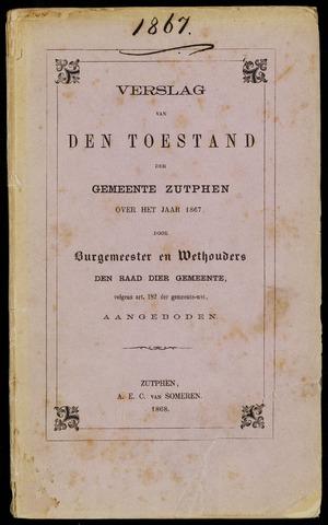 Jaarverslagen gemeente Zutphen (1851-1945) 1867-12-31