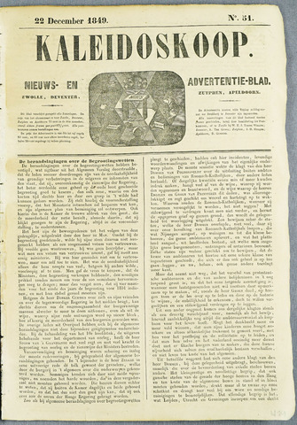 De Kaleidoskoop (1846-1851) 1849-12-22