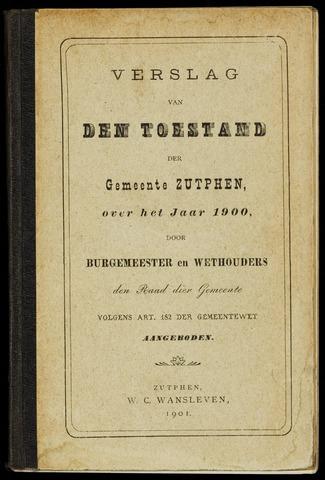 Jaarverslagen gemeente Zutphen (1851-1945) 1900-12-31